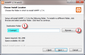 Xampp_tutorial_xampp_for_windows_installation_wizard_page_1_choosing_installation_folder