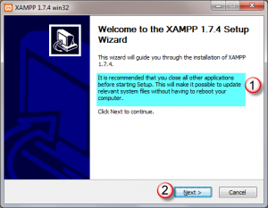 Xampp_tutorial_xampp_for_windows_installation_wizard_welcome_page