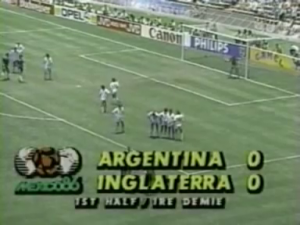 Hand of God 1986 Fifa World Cup Argentina England