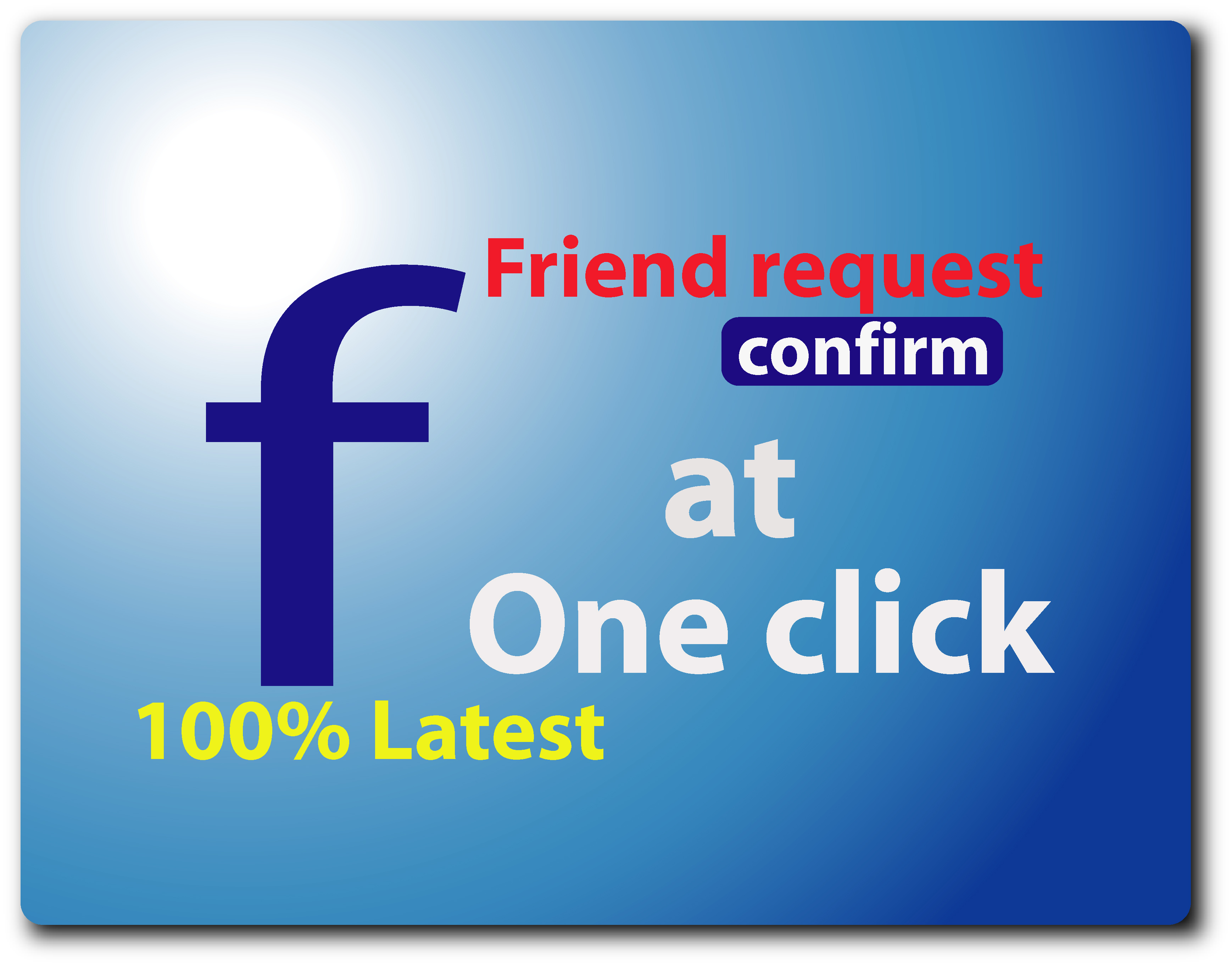 How to confirm all Facebook friend request at one click