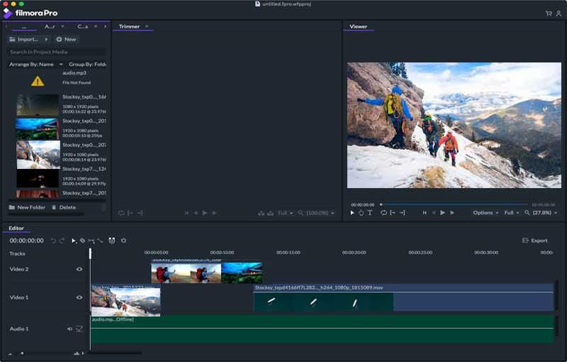 Filmorapro video editor, Filmorapro offline installer